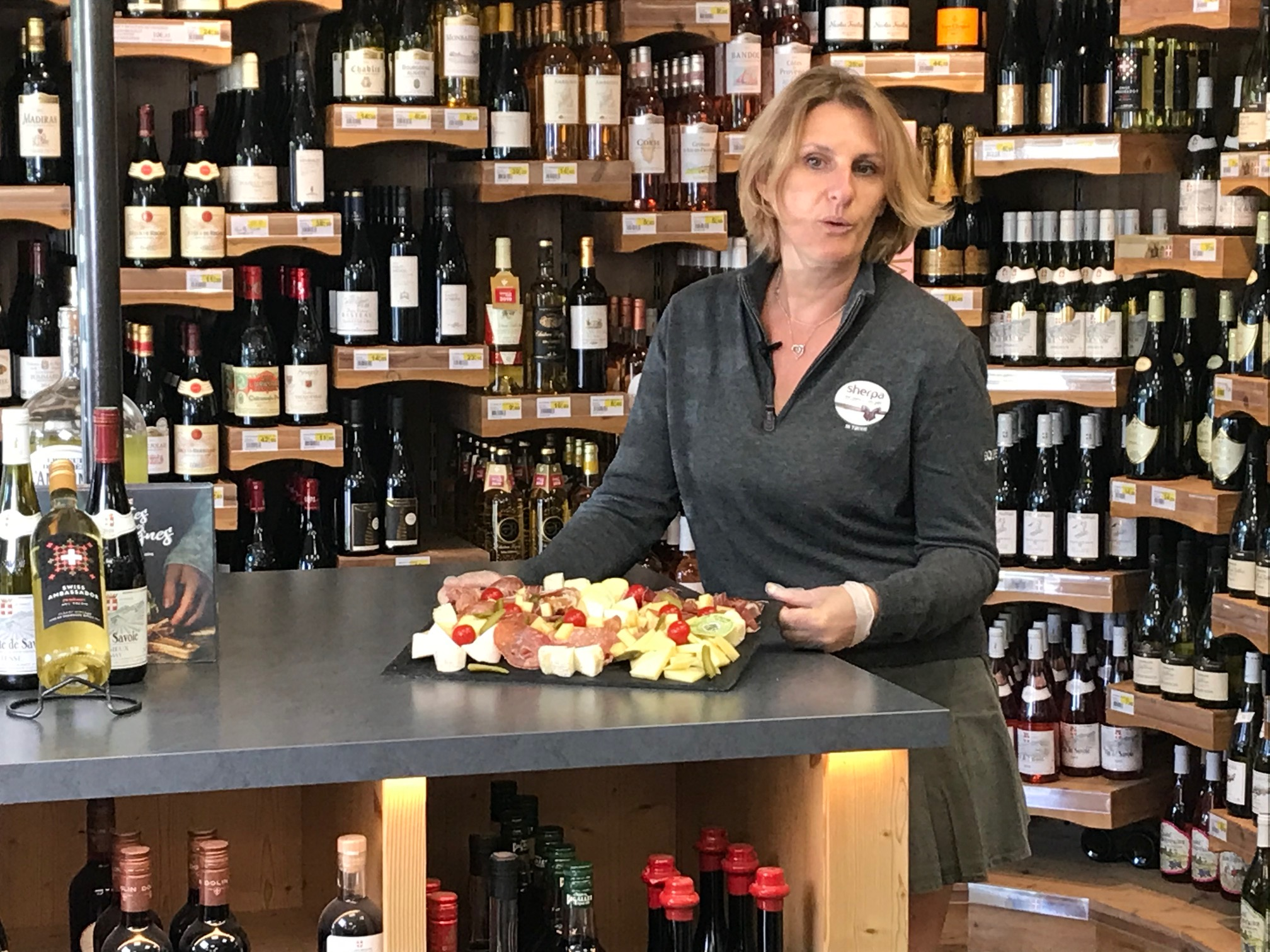 Sherpa supermarket Gets (les) wine cellar and raclette recipe