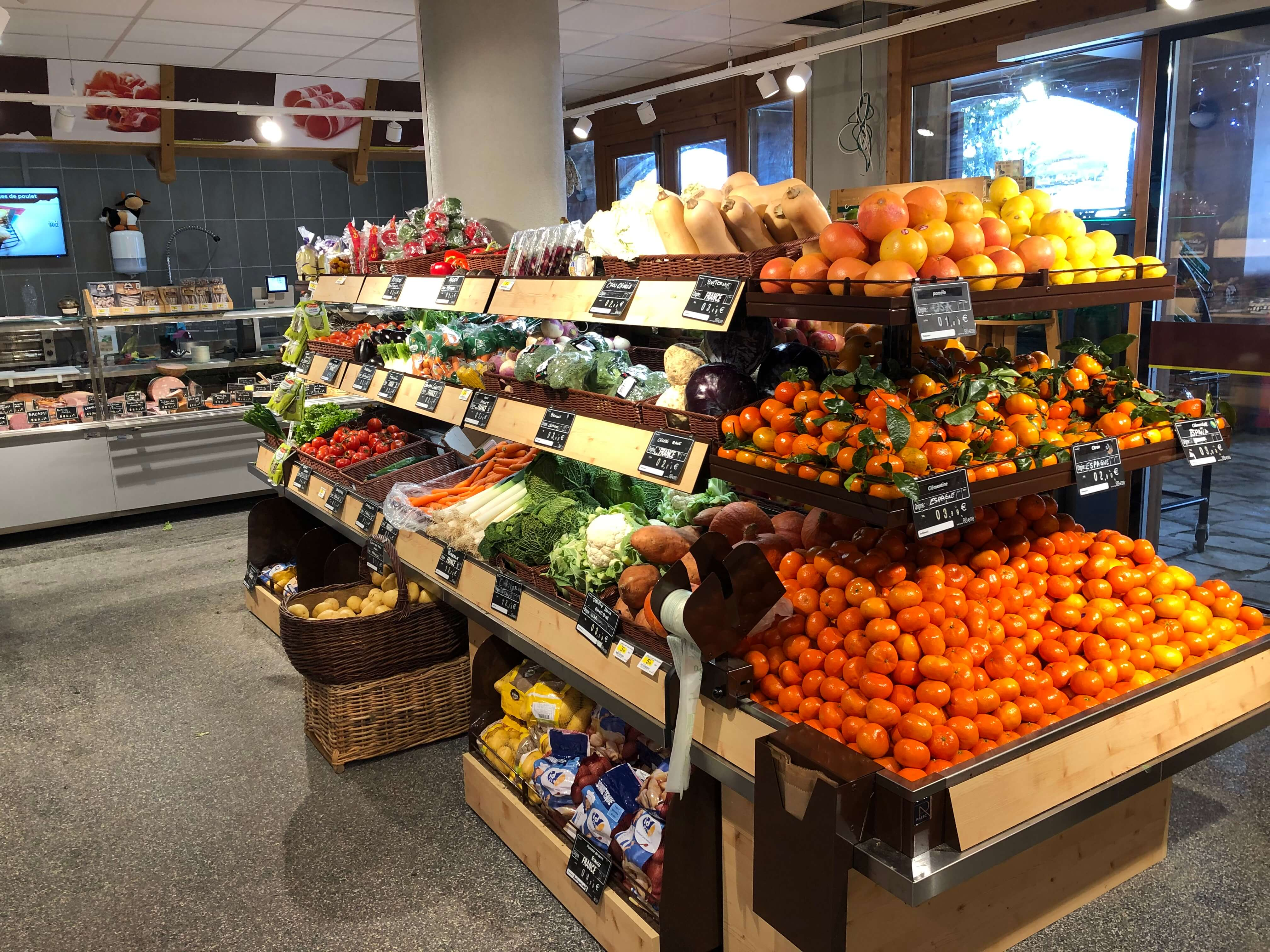 Sherpa supermarket Grand Bornand (Le) - Chinaillon fruits and vegetables
