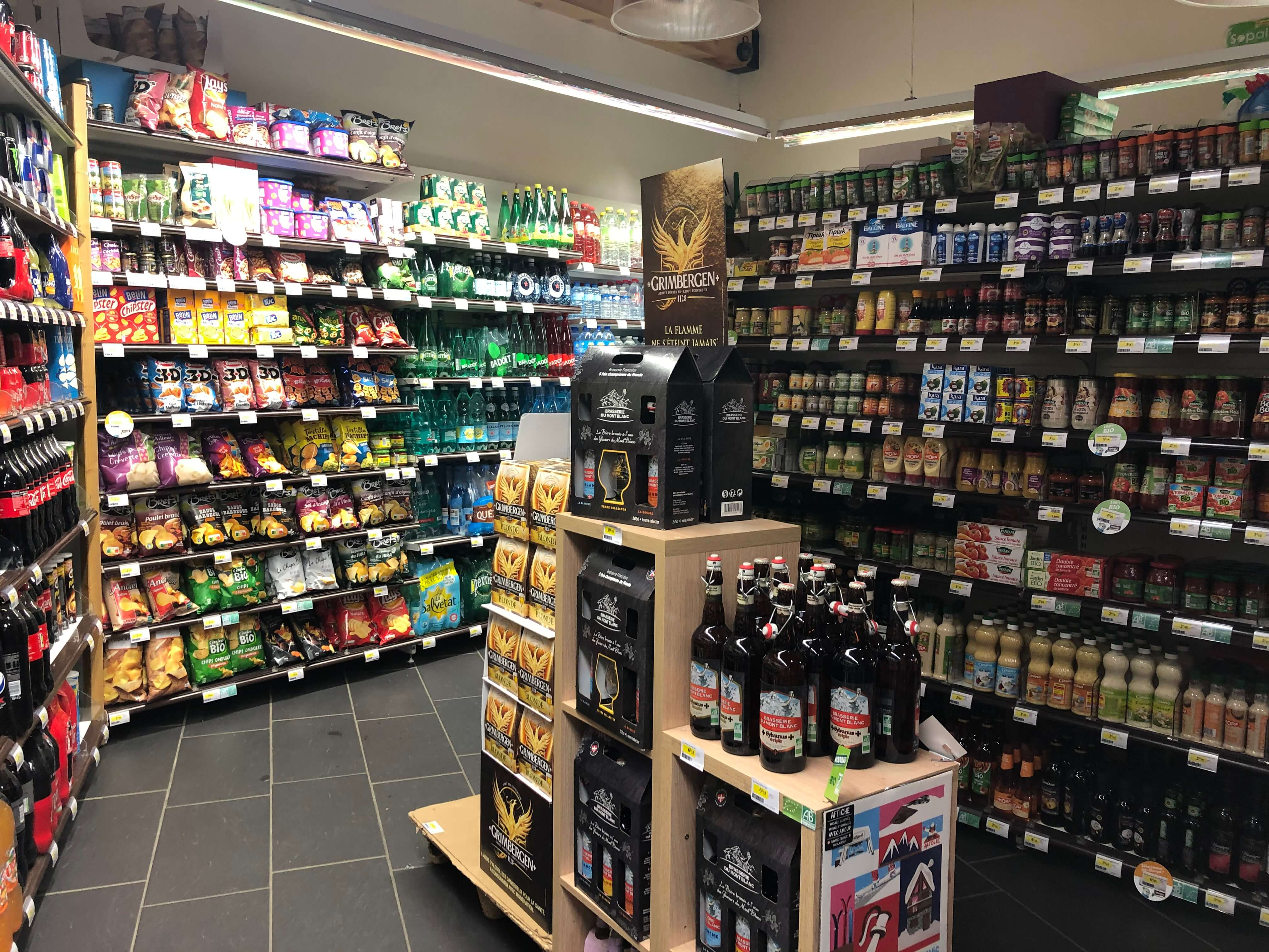 Sherpa supermarket Val Cenis - les champs alcohols