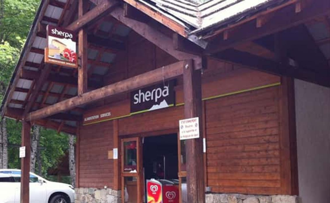 Sherpa supermarket aile froide entrance