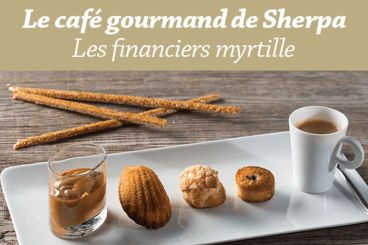 Café gourmand - Financiers myrtille